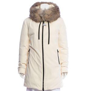Moncler ivory Bartramifur coat 2018